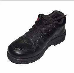 Lace On Kayvee Footwear Lace Black School Shoe