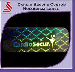 Custom Secure Transparent Hologram Label