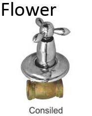 Flower Concealed Bathroom Accessories