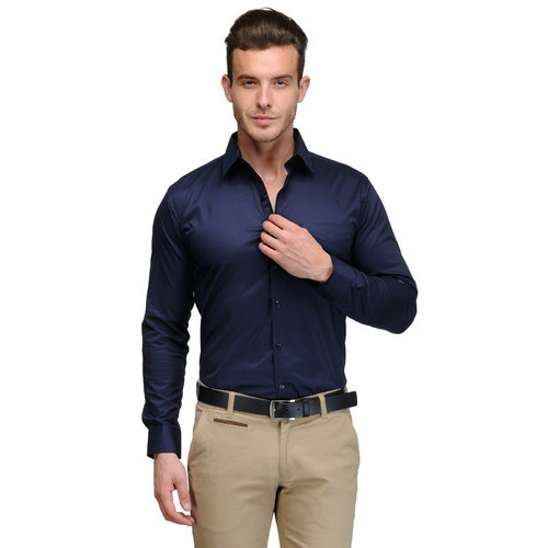 Mens Navy Blue Shirt at Rs 650 /piece(s) | Gandhi Nagar | Delhi ...