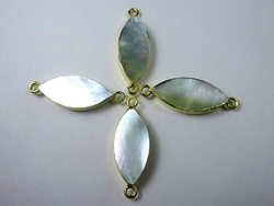 Mother Of Pearl Electroplate Pendant