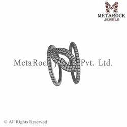 Pave Diamond Designer Rings