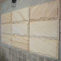 Teak Rock Face Mosaic Tile