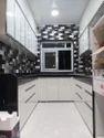 Modern Modular Kitchen In Frosty White High Glossy, Size (feet): 25running Feet