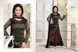 Black Embroidered designer Dress