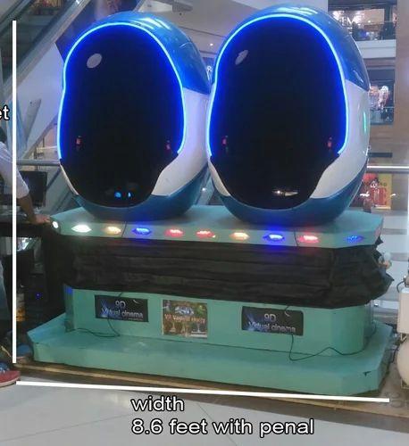 a5876bf83bc Blue And White Virtual Cinema Ride 9D