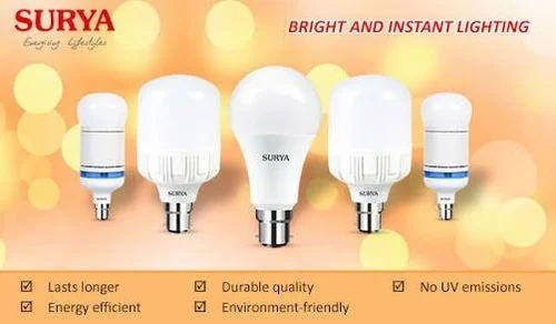 Surya 5w Led Bulb Base Type B22 E27