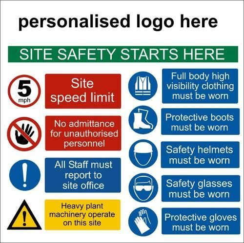 Information Site: Sign Board Safety Posters