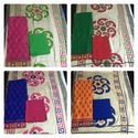 Embroidered Cotton Satin Top With Pashmina Dupatta