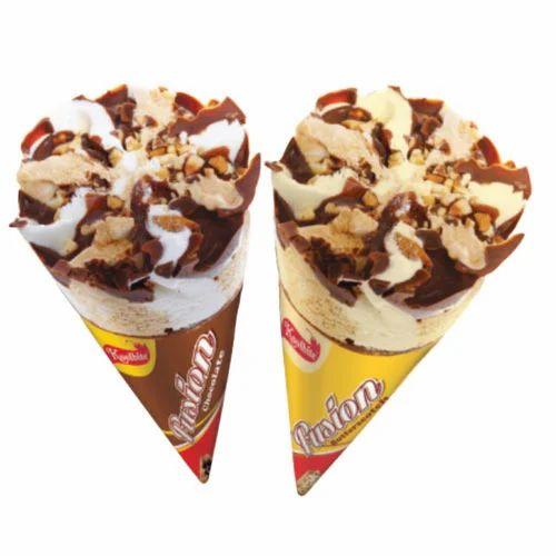 fusion cone ice cream at rs 25 piece च कल ट