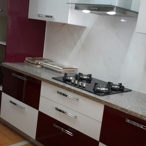 Buy Modular Kitchens And Wardrobes In Gurgaon Delhi Ncr: Laminate Hi- Gloss Kitchen At Rs 1200 /foot