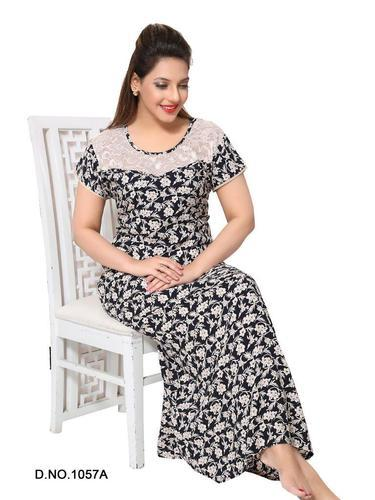 e520eb4079 Hosiery Full Length Ladies Night Gown, Rs 450 /piece, Angelina ...