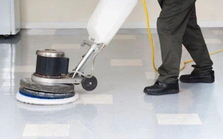 Elegant Commercial Floor Scrubbing Services