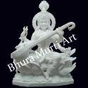 White Marble Saraswati Statue