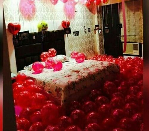 Birthday Bedroom Balloon Decoration Service, Area / Size