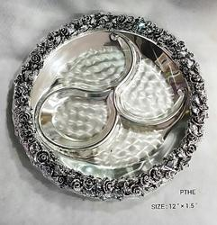 Silver Plated Flower Tray