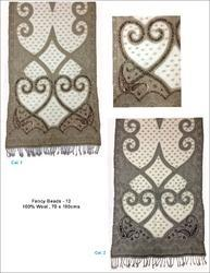 Fancy Beaded Wool Shawls