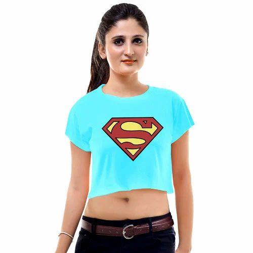 f8d11e98c76af3 Ladies Superman Crop Top at Rs 150  piece