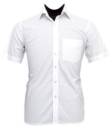 Men's Half Sleeves White Shirt