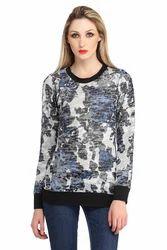 Hi Fashion Abstract Print Top