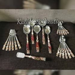 Rose Gold Serving Spoon Set