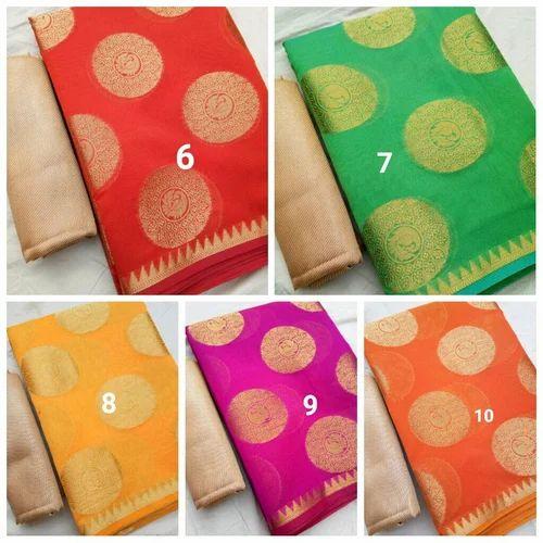 fca50d817505c Banarasi Cotton Silk Soft Gola Sarees at Rs 1650  piece