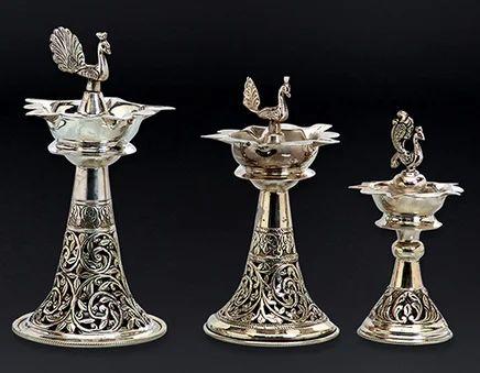 Silver Lamp Set And Samai Set