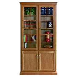Brown Wooden Glass Cupboard, Size/Dimension: 170 X 75 X 60 Cm