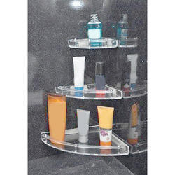 anand bath Acrylic Corner Shelf Set Round