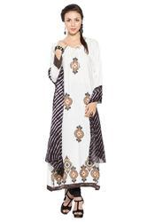 Long Designer Casual Party Wear Printed Salwar Kurti Suit