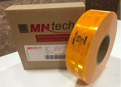 Yellow Mn Tech Vehicle Marking Retro Reflective Tape, Packaging Type: Carton Box