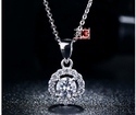 1.50ct Off White Yellow Moissanite Sterling Silver Pendants