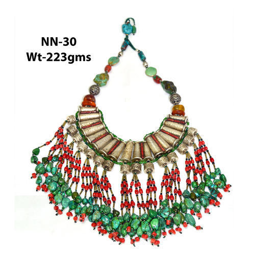 bohemian nepal boho necklace ethnic tribal jewelry turquoise pin nepali