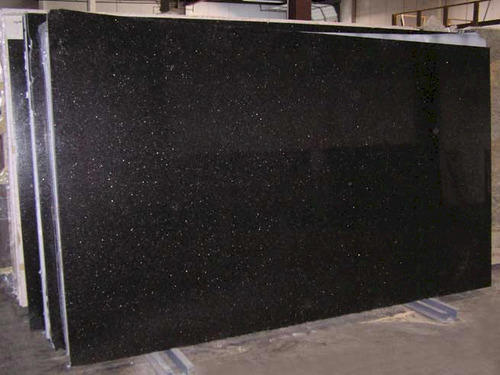 Black Galaxy Granite Slab Thickness 15 20 Mm Rs 200