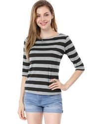 Cotton Round Neck Knitted Tops, Size: XXS to 6XL