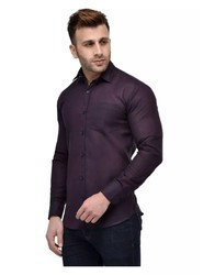 Hangup Blend Purple Mens Casual Regular Fit Cotton Shirt