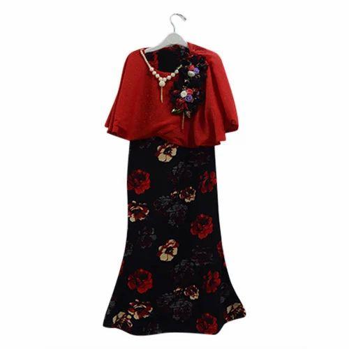 d7f0e5b24ddf Black And Red Girls Party Wear Midi, Rs 665 /piece, Krishna Trading ...