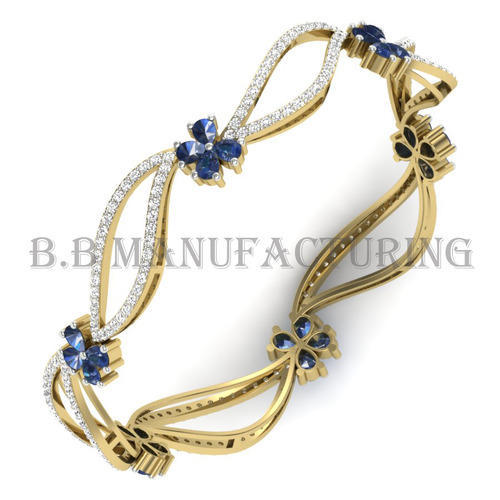 natural gold charming jewelry bracelet wholesale sapphire diamond bangle item fine white solid bangles loving blue real
