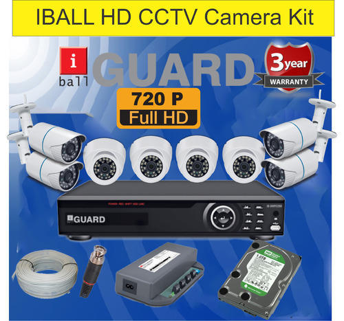 8ch CCTV Camera HD Hybrid DVR Kit