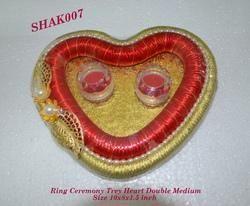 Ring Ceremony Tray Heart Double Medium