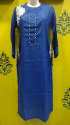 Cotton Jute Embroidered Kurti