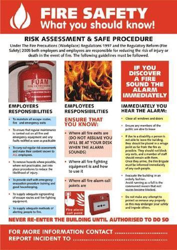 Fire Safety Poster View Specifications Amp Details Of Fire