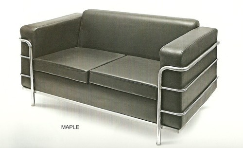 Two Seater Black Sofa Milano Sf111 Rs