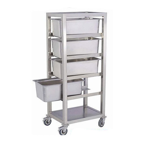 Stainless Steel Trolley Stainless Steel Three Tray