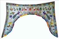 Beaded Multicolor Handmade Indian Door Window Valance