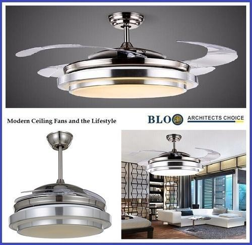 Decorative Fan With LED Light