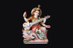 Tejasvi Maa Saraswati Marble Statue