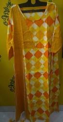 Rayon Mustard Yellow Kurti