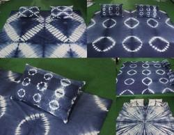 Tie & Dye Cotton Bed Cover Throw