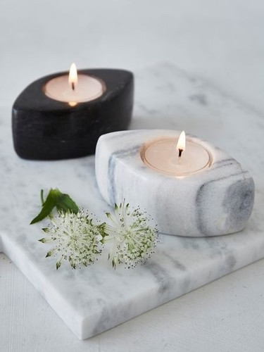 Natural Marble Candle Holder